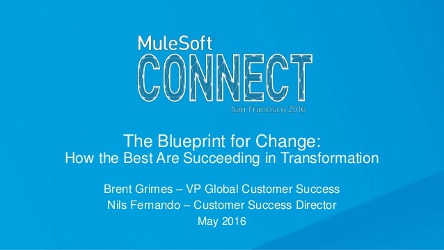 The Blueprint for Change: How the Best Are Succeeding in Transformation Brent Grimes – VP Global Customer Success Nils Fer...