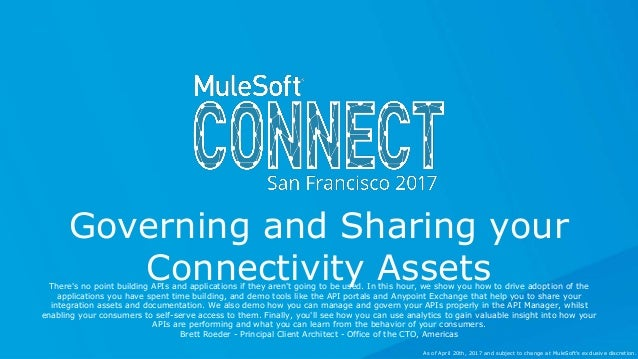 All contents © MuleSoft Inc. Governing and Sharing your Connectivity AssetsThere's no point building APIs and applications...