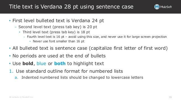 standard outline template