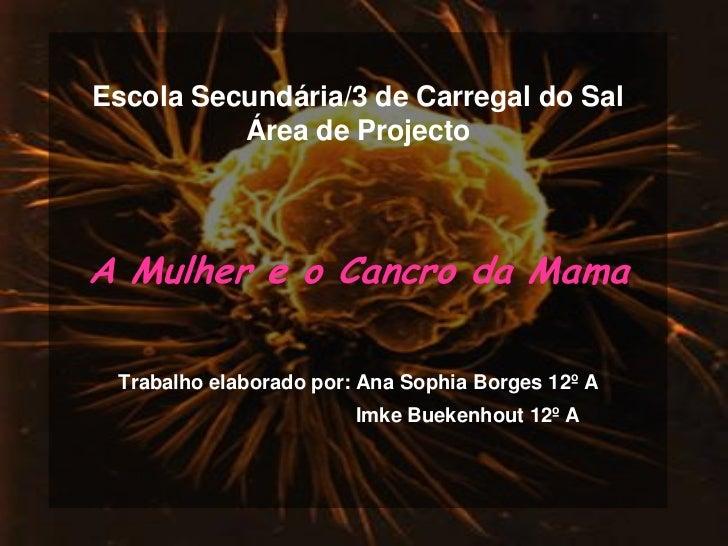 Escola Secundária/3 de Carregal do Sal           Área de Projecto     A Mulher e o Cancro da Mama   Trabalho elaborado por...