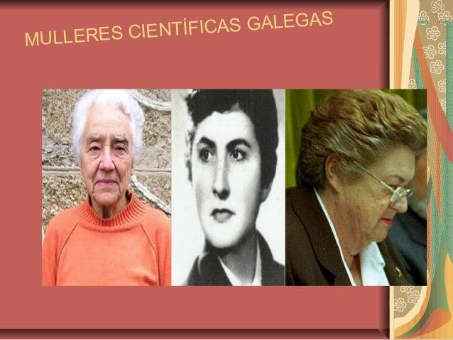 MULLERES CIENTÍFICAS GALEGAS