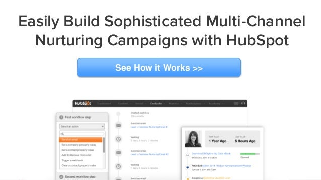 Easily Build Sophisticated Multi-Channel Nurturing Campaigns with HubSpot See How it Works >>