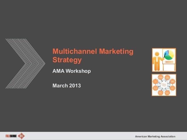 American Marketing Association Multichannel Marketing Strategy AMA Workshop March 2013