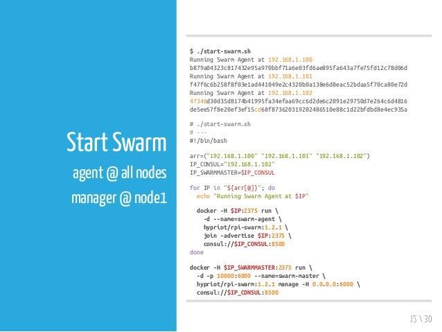 Multi container apps swarm consul compose for Consul bootstrap