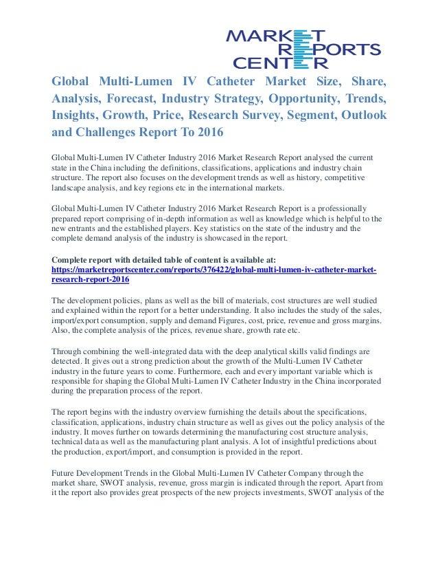 multi lumen iv catheter market share growth opportunity and outlook
