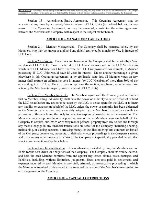 Multi Member Llc Operating Agreement Download