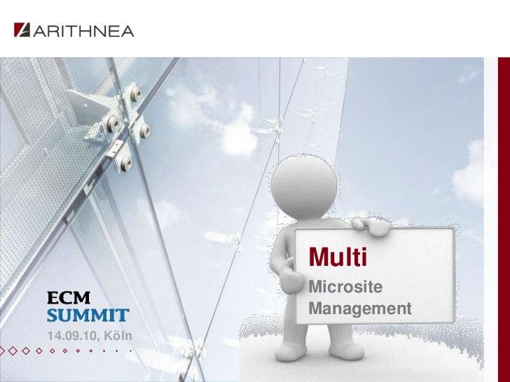 Multi                 Microsite                 Management14.09.10, Köln