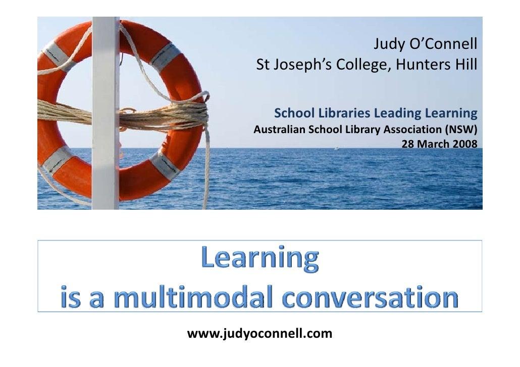 JudyO'Connell          StJoseph'sCollege,HuntersHill              SchoolLibrariesLeadingLearning          Australi...