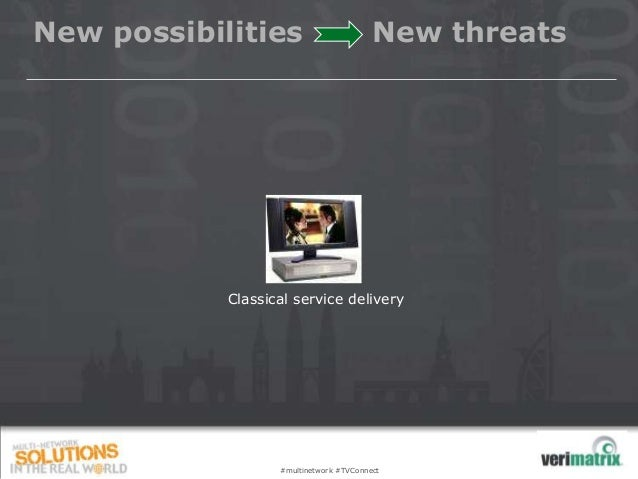 New possibilities                        New threats            Classical service delivery                   #multinetwork...