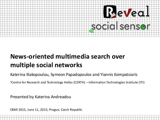 News-oriented multimedia search over multiple social networks Katerina Iliakopoulou, Symeon Papadopoulos and Yiannis Kompa...