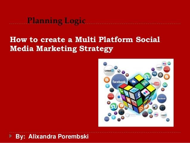 How to create a Multi Platform Social Media Marketing Strategy By: Alixandra Porembski Planning Logic