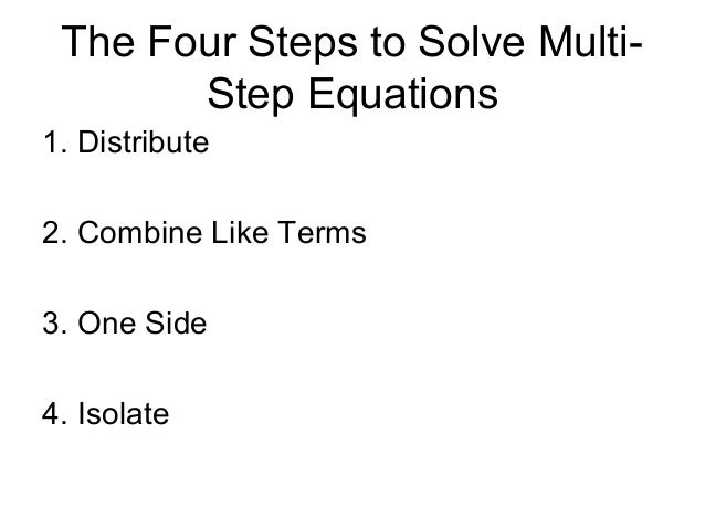 Four Steps To Solve An Equation Yourhelpfulelf – Multi Step Equations with Fractions Worksheets