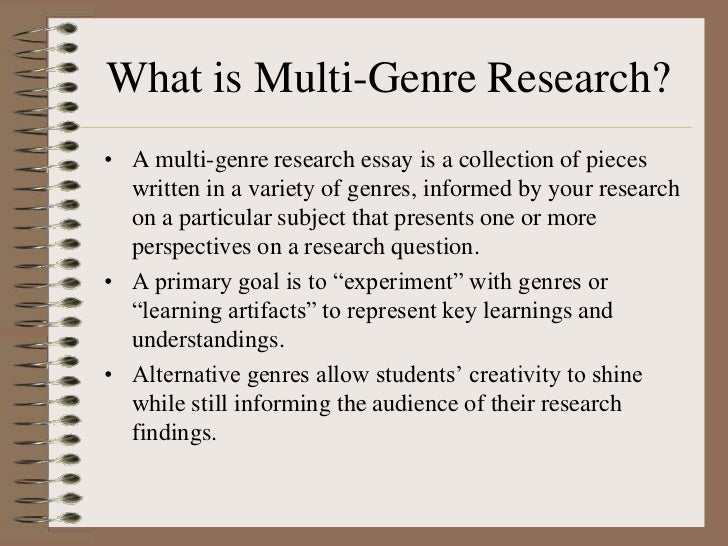 How to write a multi genre research paper