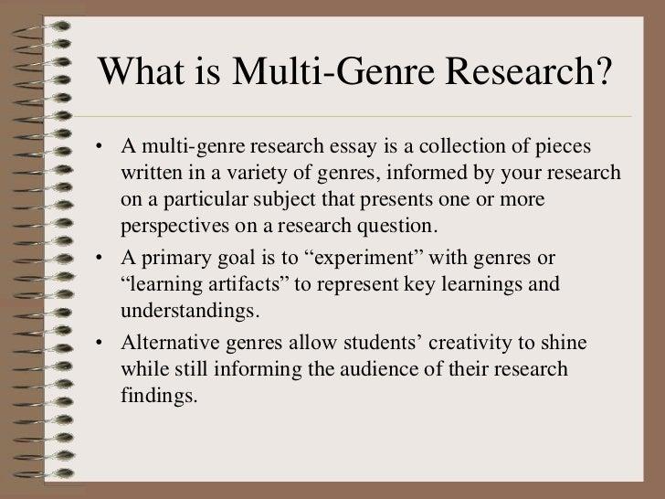 Multi-genre fiction essay assignment