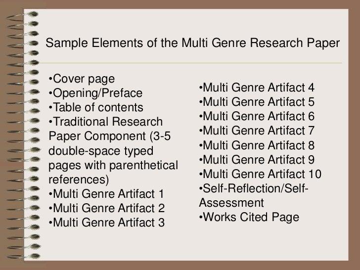 mutli genre research paper