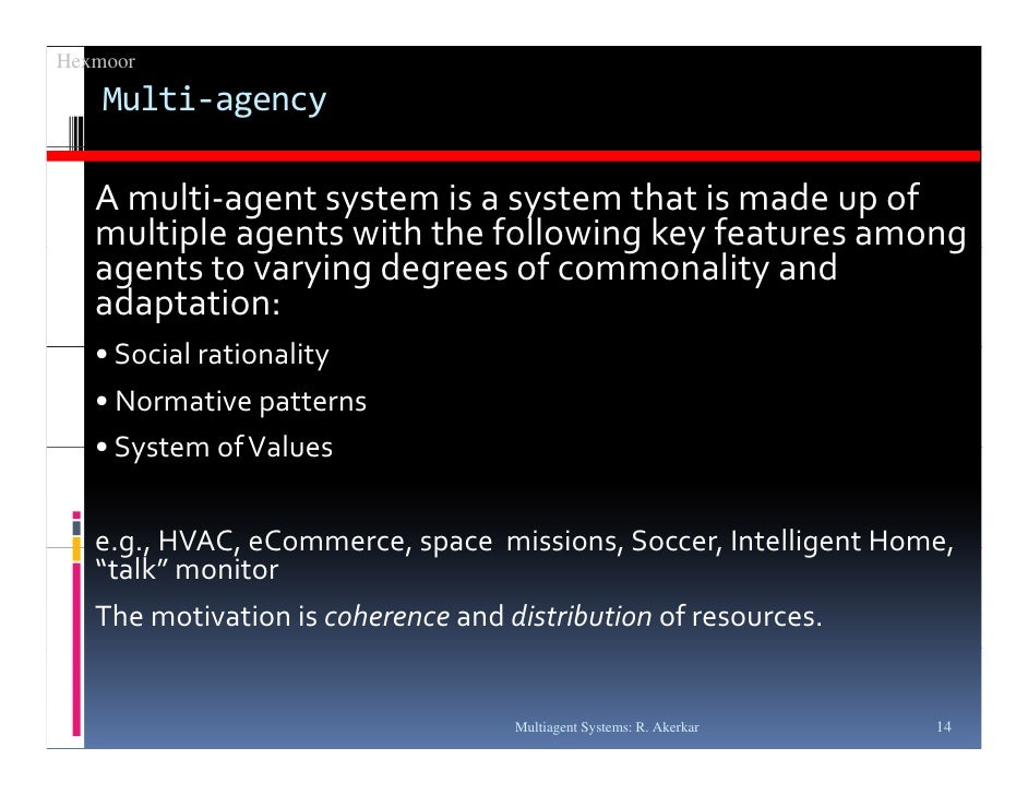 MULTI AGENT RATIONALITY - Collectif