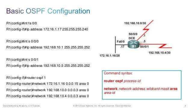 Juniper ospf configuration example.