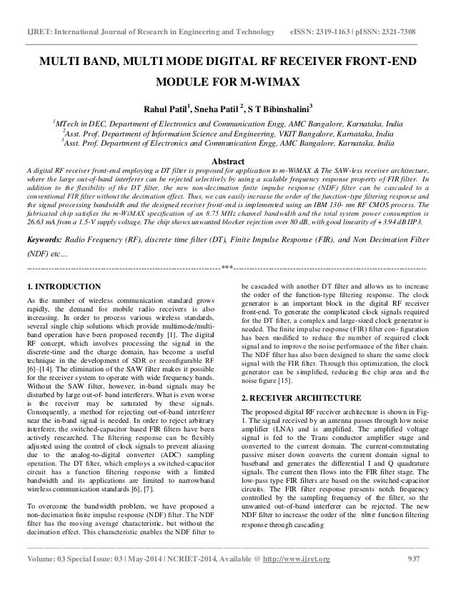 research paper on rf module