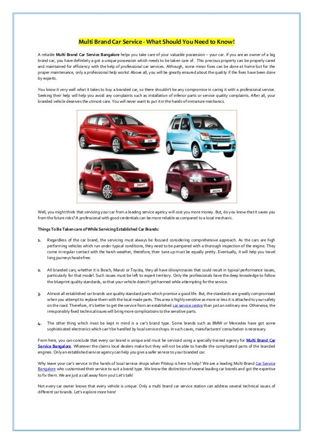 Multi Brand Car Service What Should You Need To Know
