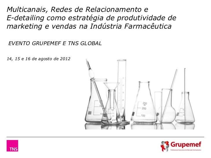 Multicanais, Redes de Relacionamento eE-detailing como estratégia de produtividade demarketing e vendas na Indústria Farma...