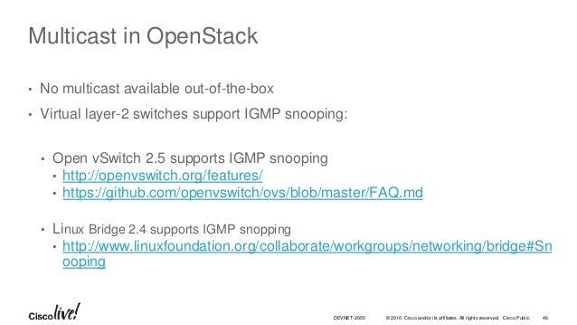 Multicast in OpenStack