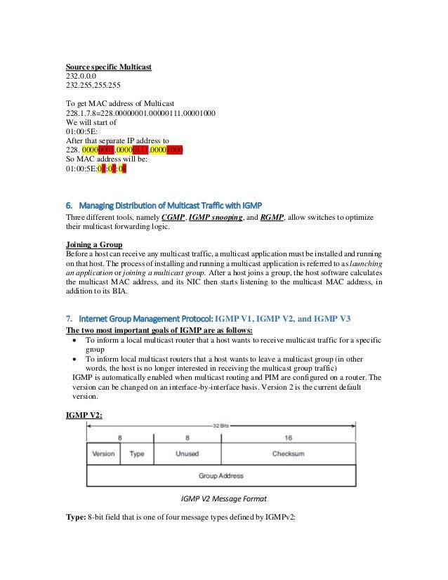 Multicast IP addresses Part 1