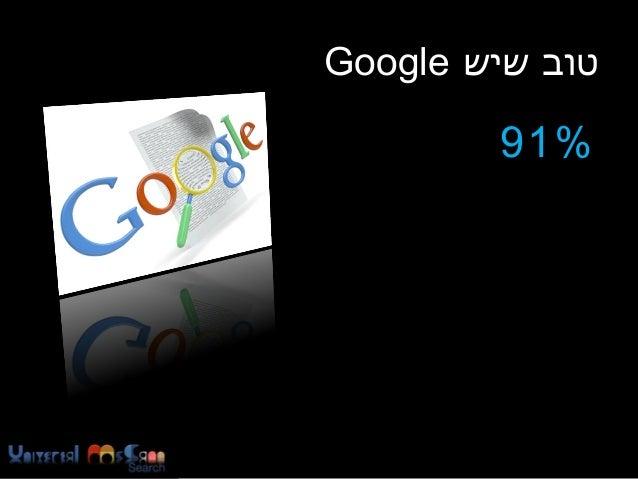 טוב שיש Google %19 מהגולשים בישראל משתמשים במנועי החיפוש למצוא מידע  איגוד האינטרנט הישראלי, מחקר שנתי ינוא...