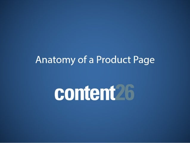 Anatomy of a Product Page