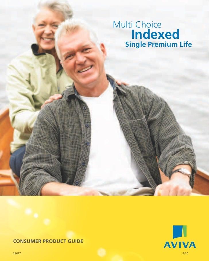 Multi Choice                             indexed                            single Premium LifeConsumEr ProduCt GuidE15677...