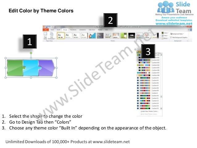 Multicolor Puzzle Piece Diagram 3 Stages Online Flow Chart Creator Po