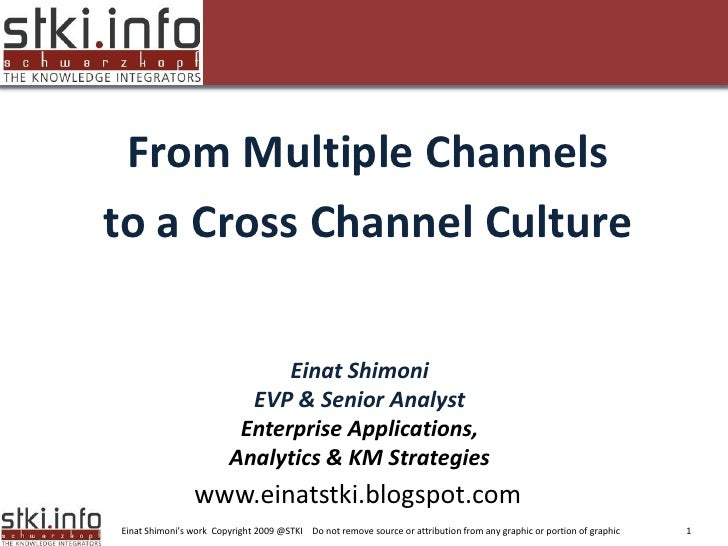 From Multiple Channels to a Cross Channel Culture Your Text here                                                          ...