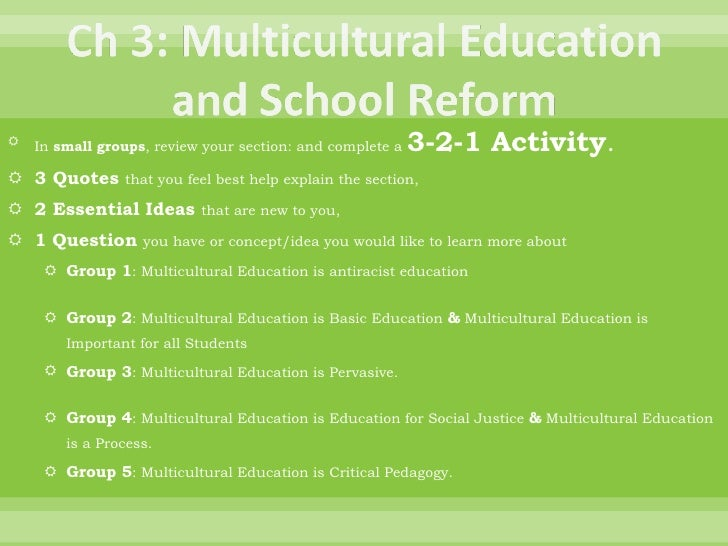 The Call to Teach: Multicultural Education
