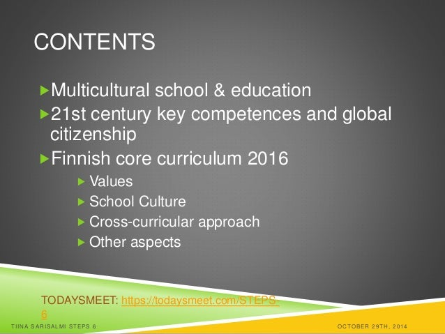 Multicultural school and 21st century key competences for global citi global citizens tiina sarisalmi steps 6 tampere wednesday 29th october 2 sciox Images