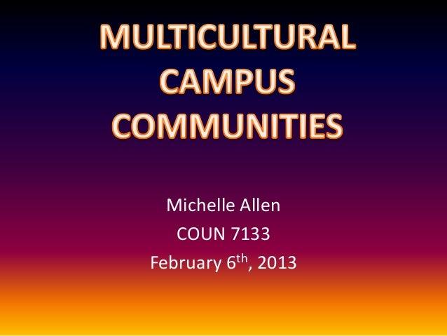Michelle Allen COUN 7133 February 6th, 2013