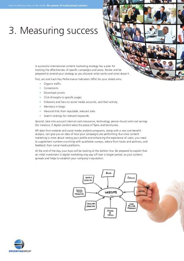 A successful international content marketing strategy has a plan for tracking the effectiveness of specific campaigns and ...