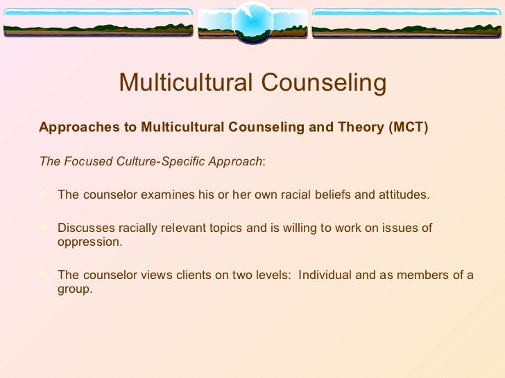 diversity in counseling The counseling and testing center staff is strongly and proudly committed to  furthering the academic success and well-being of a diverse and dynamic  student.