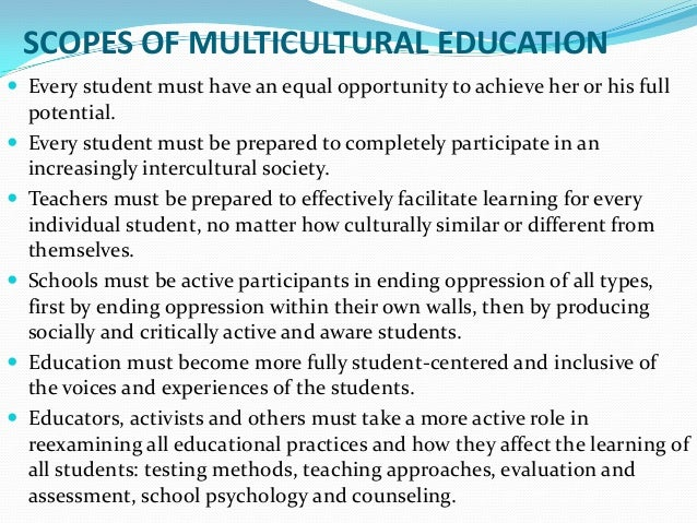 multicultural in school setting essay Lessons plans promoting a diverse learning environment essay examples - with the concept of multicultural education programs becoming more popular, educators are seeking new ways to present diversity into their school community, classrooms, and lesson plans.