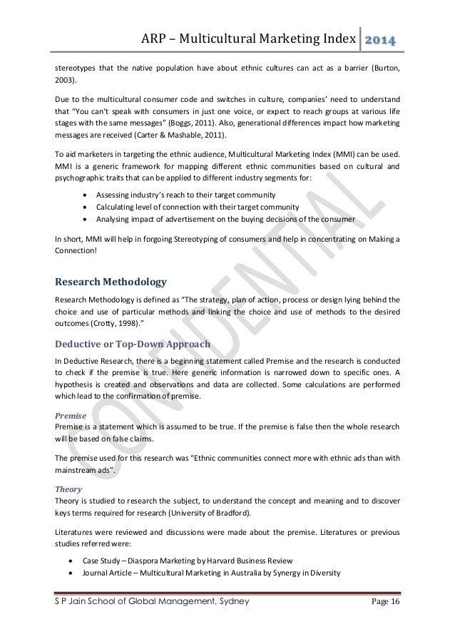 Multiculturalism in australia research paper