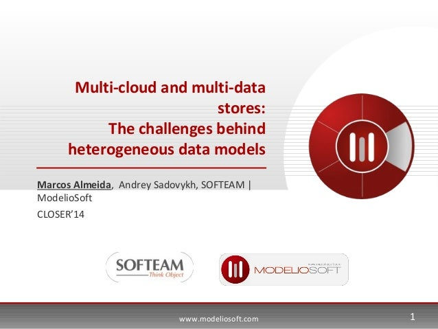 www.modeliosoft.com Multi-cloud and multi-data stores: The challenges behind heterogeneous data models Marcos Almeida, And...