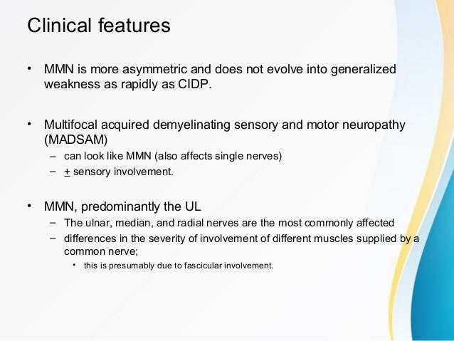 Clinical criteria for the diagnosis of MMN ...