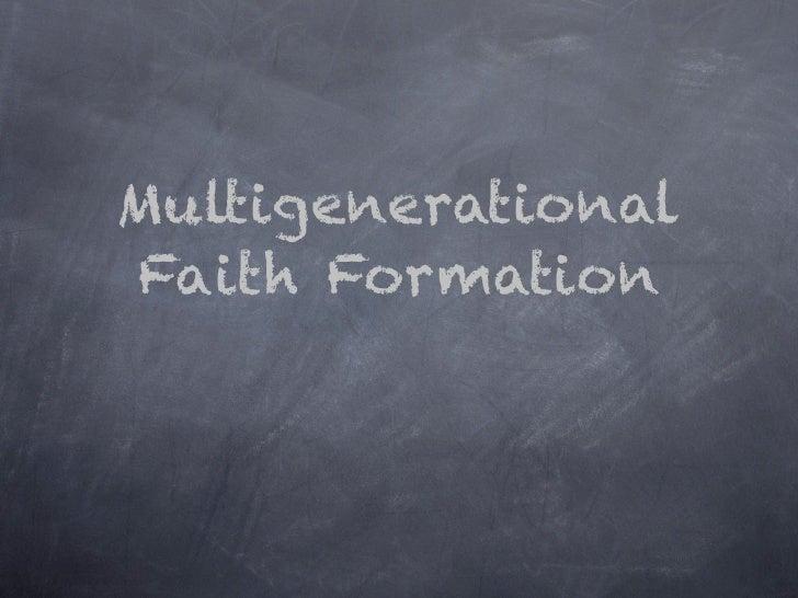 MultigenerationalFaith Formation