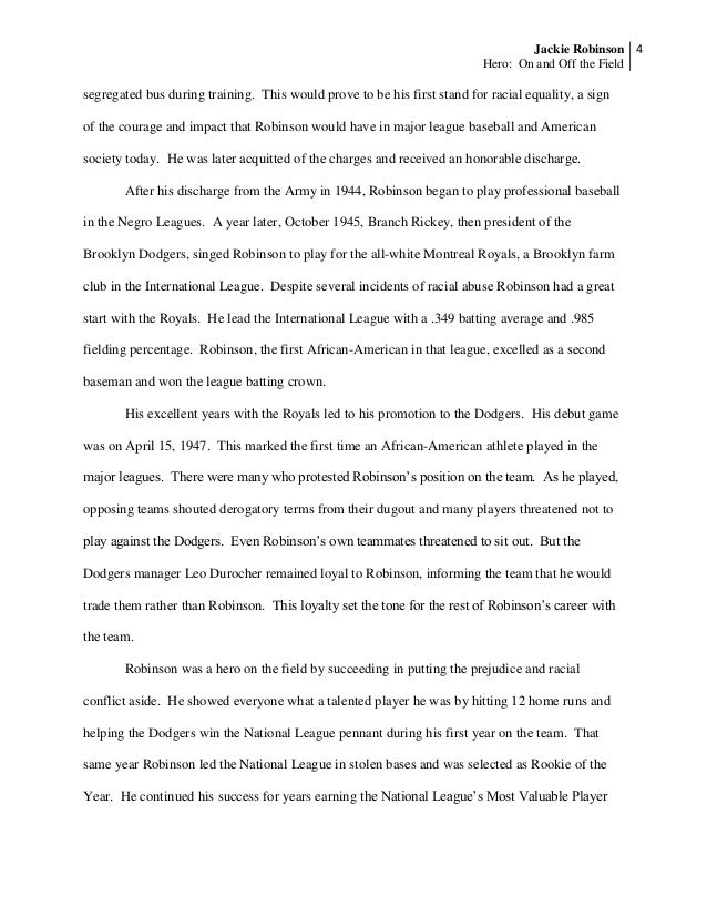 jackie robinson research paper