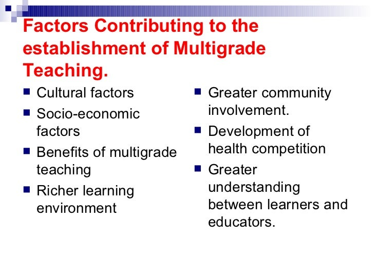 multigrade class Part one of this publication indudes the background paper on multi-class  teaching,  there is a perception that teaching in a multigrade classroom is  more of a.