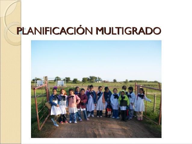 PLANIFICACIÓN MULTIGRADO