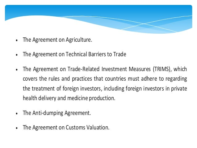 Trade Related Investment Measures (TRIMS)