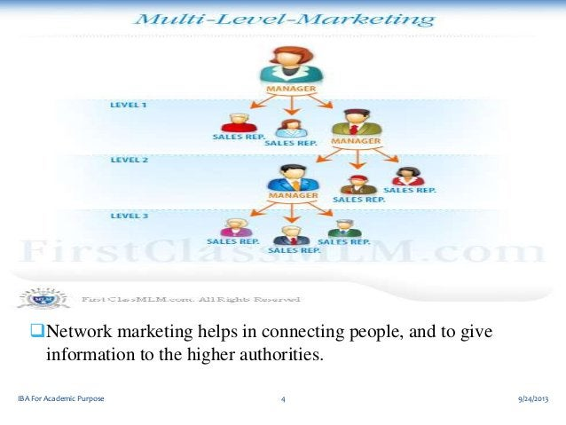 Network marketing helps in connecting people, and to give information to the higher authorities. IBA For Academic Purpose...