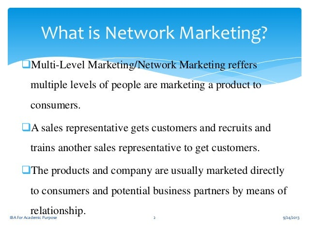 2 What Is Network Marketing