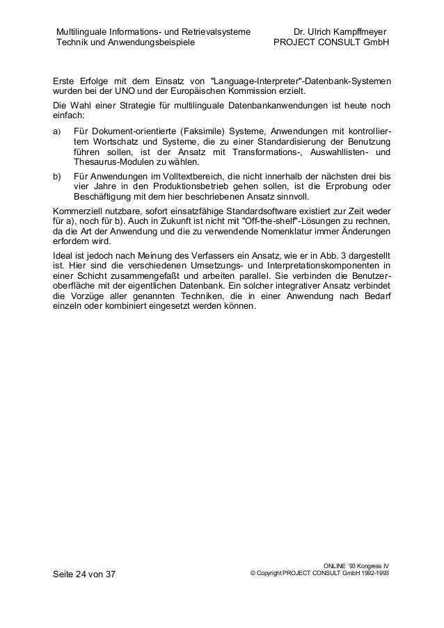 DE] Multilinguale Informations- und Retrievalsysteme Technik und Anw…