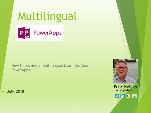 Multilingual power apps