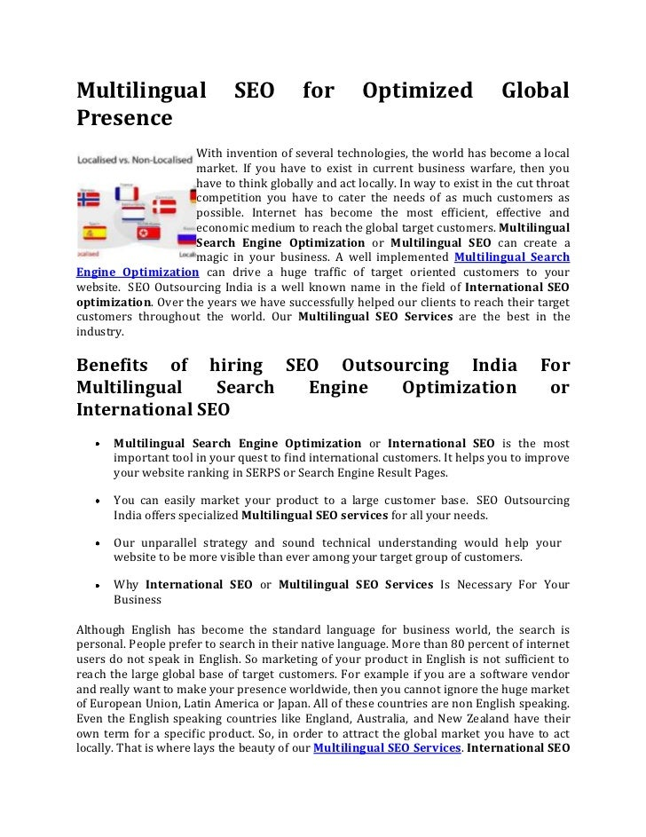 Multilingual SEO for Optimized Global Presence<br />left0With invention of several technologies, the world has become a lo...